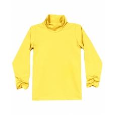 Бадлон-водолазка для девочки, цвет желтый