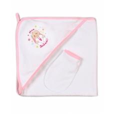 Пелёнка купальная розовая