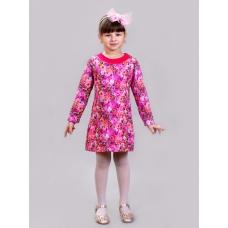Платье длинный рукав лютики