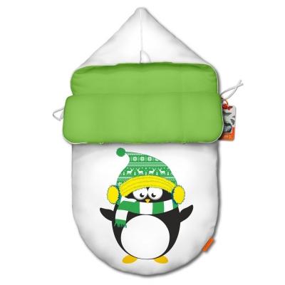 """Конверт для новорожденного original """"Penguin green"""""""