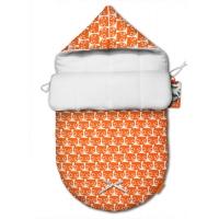 """Зимний конверт для новорожденного """"Orange Cats"""""""