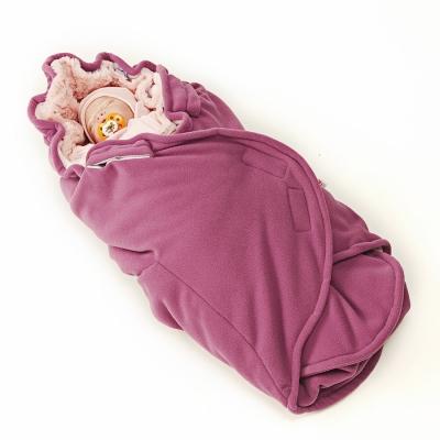 Конверт с мехом Softis розовый для детей от 0 до 24 месяцев