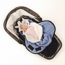 Конверт с мехом Softis Синий для детей от 0 до 24 месяцев
