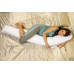 Длинная подушка на всё тело с холлофайбером 190 см
