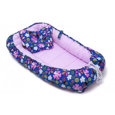 """Гнездышко с подушкой """"Пейчворк с цветами"""""""