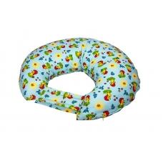 """Подушка для кормления """"Ежики на голубом"""""""