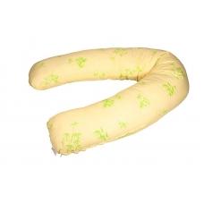 "Подушка-бумеранг ""Веточки на желтом"""