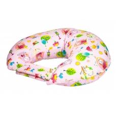 """Подушка для кормления """"Зайчики на розовом"""""""
