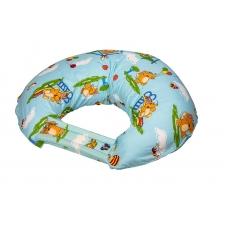 """Подушка для кормления """"Слоники на качелях на голубом"""""""