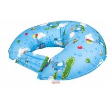"""Подушка для кормления """"Играющие слоники на голубом"""""""