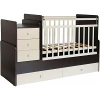 Кроватка детская Фея 1100 венге-бежевый