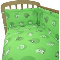 """Комплект в кроватку """"Наши друзья"""" 6 предметов, зеленый"""