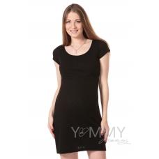 Платье для дома и сна ажурное черное