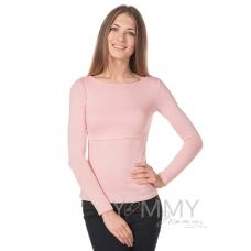 Лонгслив жемчужно-розовый