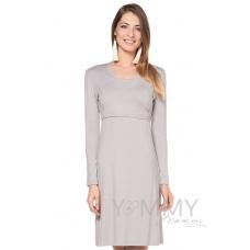 Платье на запах серый жемчуг из модала