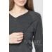 Костюм темно-серый меланж: джемпер с V-вырезом + брюки