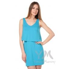 Платье двухъярусное бюрюзовое
