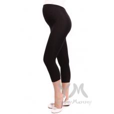 Лосины для беременных из модала короткие черные
