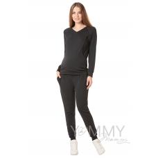 Костюм графит: джемпер с V-вырезом + брюки универсальные