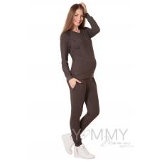 Костюм мускат меланж: джемпер с V-вырезом + брюки универсальные