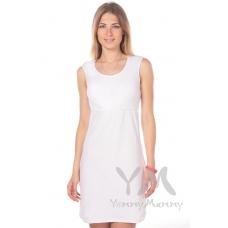 Ночная рубашка без рукава белая (из рибаны)