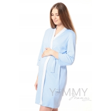 Халат + ночная рубашка голубой