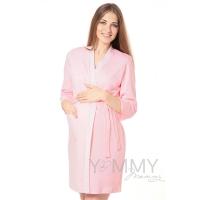 Халат + ночная рубашка розовая