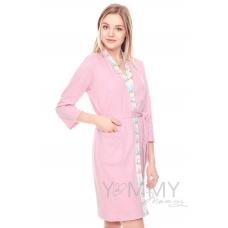 """Халат розовый + ночная рубашка """"зайчики кошечки"""""""