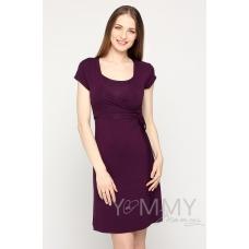 Платье на запах темно-лиловое