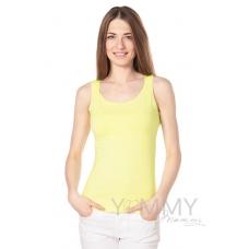 Майка светло-желтая