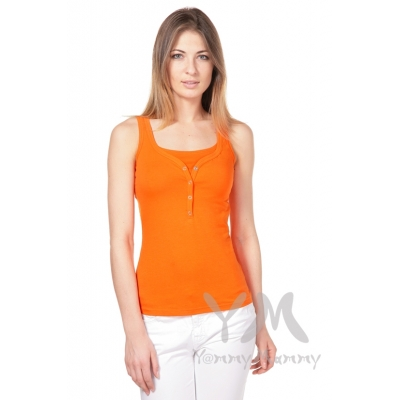 Майка-поло оранжевая беременной