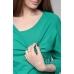 Джемпер с спущенным плечом с топом ярко-зеленый