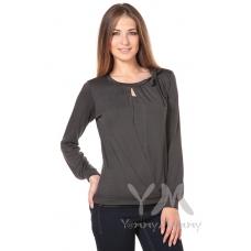 Блуза с бантом графит