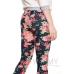 Джегинсы универсальные цвет джинса розовые цветы